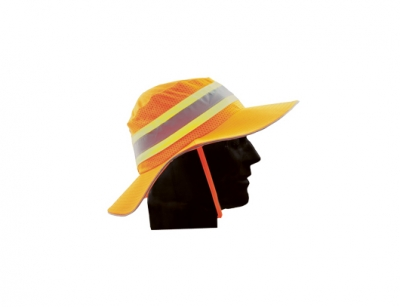 Wide Brim Hat - Neon Orange