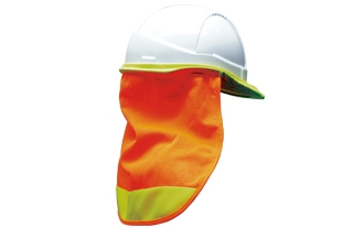 Neck Flap - Neon Orange (with yellow bands)